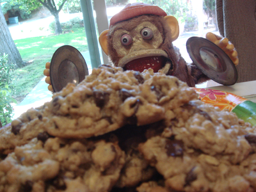 Cowboy Cookies with Monkey